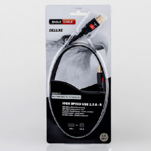 EAGLE CABLE DELUXE USB 2.0 A - Mini B 0.8 m