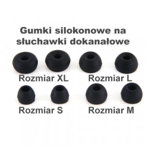 Gumki Silikonowe T200 Rozmiar L black