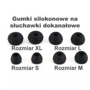 Gumki Silikonowe T200 Rozmiar M black