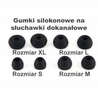 Gumki Silikonowe T400 Rozmiar S black
