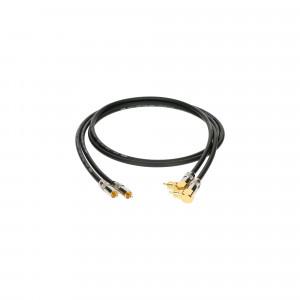 KLOTZ ALPA009 kabel sygnałowy audio hi-end 2x RCA do 2x RCA kątowe - 0.9m