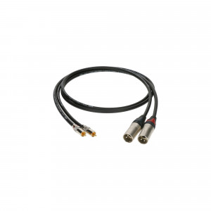 KLOTZ ALPM030 kabel sygnałowy audio hi-end 2x RCA do 2x XLR - 3m