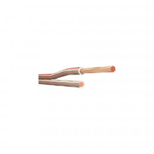 KLOTZ LYP007T równoległy kabel głośnikowy - metr bieżący - przezroczysty