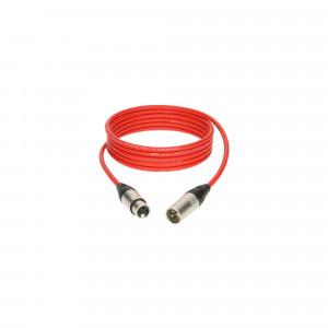 KLOTZ M1K3FM0100 profesjonalny kabel mikrofonowy - 1m - czerwony