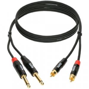 KLOTZ Minilink PRO KT-CJ150 2x RCA - 2x jack 6.3 mm PRO - 1.5 m